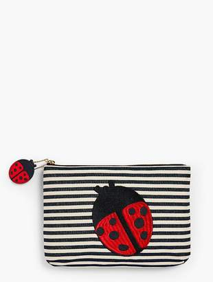 Talbots O, The Oprah Magazine Collection for Stripe Yarn-Dyed Clutch