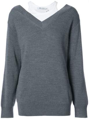 Alexander Wang dual layered bardot sweater