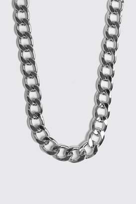 BoohoomanBoohooMAN Mens Grey Chunky Chain Necklace, Grey