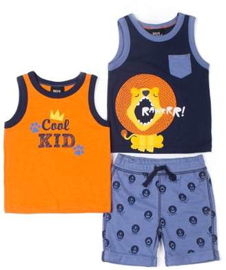 Boys Rock Baby Toddler Boy Tank Tops & French Terry Shorts, 3pc Outfit Set