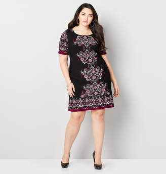 Avenue Floral Medallion Sheath Dress