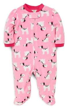 Little Me Baby Girl's Dalmatian-Print Fleece Footie