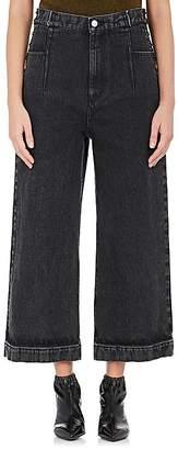 3.1 Phillip Lim Women's Lace-Up Wide-Leg Jeans