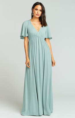 Show Me Your Mumu Emily Maxi Dress ~ Silver Sage Crisp