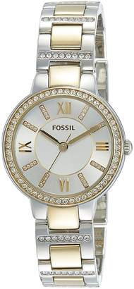 Fossil Women's ES3503 Virginia Crystal-Accented Two-Tone Watch