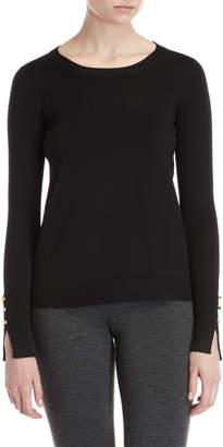 philosophy Button Cuff Sweater