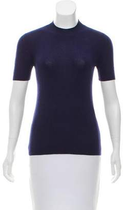 Prada Cashmere Short Sleeve Sweater