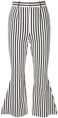 Dolce & Gabbana flared striped cropped trousers