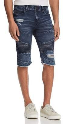 True Religion Geno Slim Straight Fit Moto Shorts