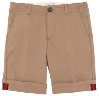 Gucci Stretch Cotton Gabardine Shorts
