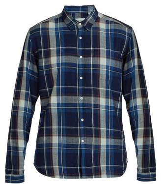 Oliver Spencer New York Plaid Cotton Shirt - Mens - Indigo