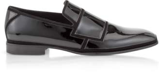 Jimmy Choo Black Suede and Patent Spencer Loafers