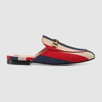 Gucci Princetown Sylvie canvas slipper
