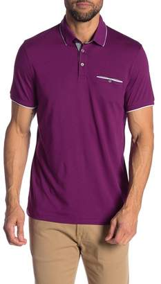Ted Baker Short Sleeve Flat Knit Polo