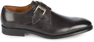 Magnanni Single Monk-Strap Leather Derbys