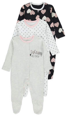 George Assorted Design Printed Sleepsuits 3 Pack