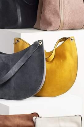 Next Womens Ochre Suede Concertina Hobo Bag