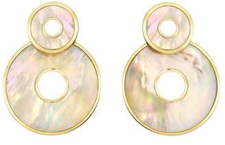 Mother of Pearl Retrouvai Inlay Swivel Earrings