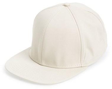 Men's Topman Twill Snapback Cap - Beige