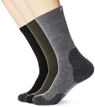 Kold Feet Men's Performance 3 Pairs Crew Socks For Hiking