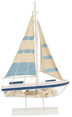Brimfield & May Beach Style Wooden Sailboat Decor