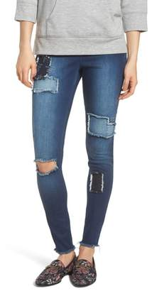 ZEZA B BY HUE High Waist Distressed Denim Leggings