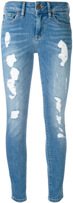 Tommy Hilfiger ripped cropped skinny jeans $193.76 thestylecure.com