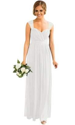 7a261a4f085 ModeC Long Bridesmaid Dress Chiffon Wedding Party Gown Lace Women Plus Size  Prom Dresses US
