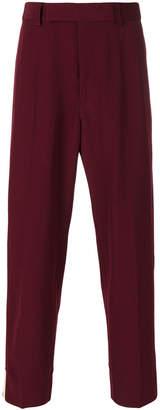 Gucci tuxedo stripe cropped trousers