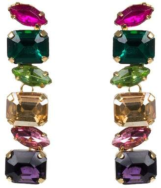 Jardin Linear Glass Stone Earrings