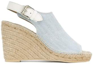 Stella McCartney denim espadrille wedge sandals