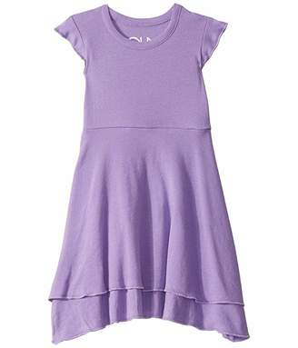 Chaser Baby Rib Flutter Sleeve Tiered Dress (Toddler/Little Kids)