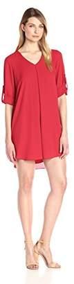 Karen Kane Women's Roll-up Sleeve Dress