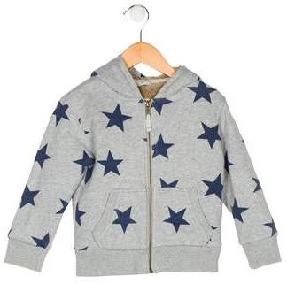Boden Mini Girls' Printed Hooded Sweater