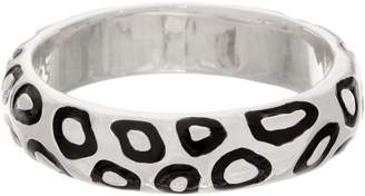 Simon Sebbag Sterling Silver & Enamel Animal Print Bangle