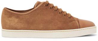 John Lobb Levah Cap-Toe Leather and Suede Sneakers - Men - Light brown