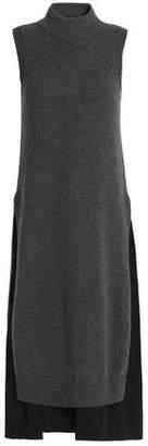 Joseph Two-Tone Wool And Cashmere-Blend Midi Dress