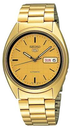 Seiko Men's SNXL72 5 Automatic -Tone Stainless Steel Bracelet Watch with Patterned Dial