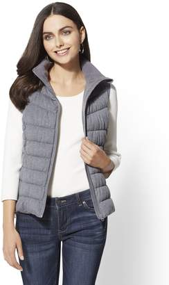 New York & Co. Knit Quilted Vest