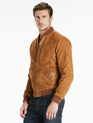 Lucky Brand Suede Bomber Jacket