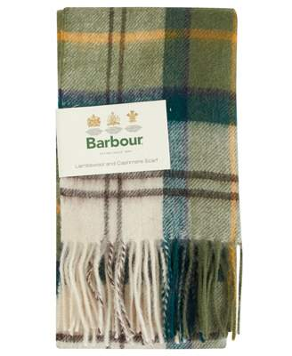 Barbour Merino Cashmere Tartan Scarf Colour: Ancient, Size: One Size