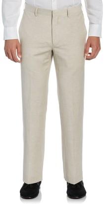 Cubavera Men's Classic-Fit Linen-Blend Flat-Front Suit Pants