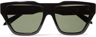 Victoria Beckham Square-frame Acetate Sunglasses - Black