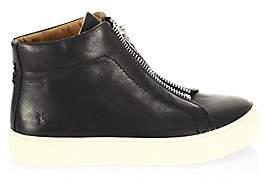 Frye Women's Lena Zip High Top Leather Sneakers