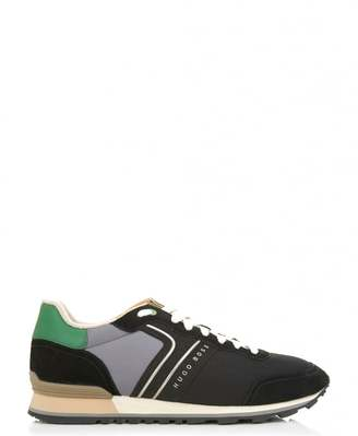 BOSS Green Footwear Parkour Runn Suede Mesh Trainers
