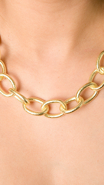 Marcia Moran Gold Plated Linked Necklace