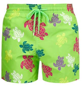 Vilebrequin Moorea Turtle Print Swim Shorts - Mens - Green