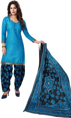 Sudarshan Silks CELEBRATION PATIALA SALWAR KAMEEZ DRESS MATERIAL-Dark Blue-BAALAR708-VM-Cotton