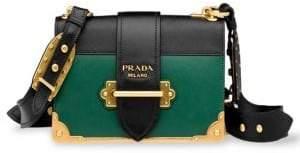 Prada Leather Cahier Colorblock Satchel