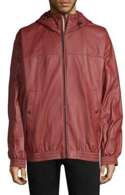 Bally Reversible Hooded Leather Jacket